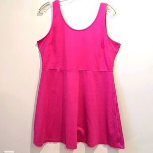 Old Navy pink sleeveless fit and flare dress XXL